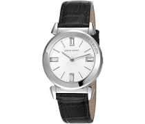 Pierre Cardin Damen-Armbanduhr Bordeaux Analog Quarz Leder PC106252F01