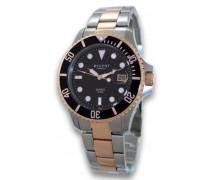 Regent Herren-Armbanduhr Analog Quarz Edelstahl beschichtet 11160246