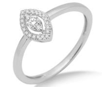 Damen-Ring 750 Weißgold mit Brillanten