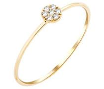 Damen Ring, Gelbgold, Diamant, 50 (15.9), MY027R0