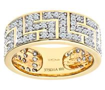 Damen-Ring 9 K Gelbgold P1 Diamant Leicht Getöntes Weiß