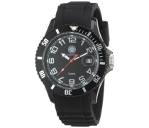 Damen-Armbanduhr Modern Analog Silikon CD-MODL-QZ-RBBK-PCBK-BK