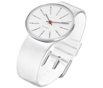 Unisex-Armbanduhr Analog Edelstahl weiss 43466