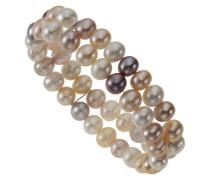 Damen-Armband mit Süßwasserperlen multi-farben 2-reihig 380260007-1