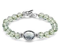 -  925 Sterling-Silber  rhodiniert Silber Ovalschliff   grau Cristal
