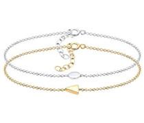 Damen-Armband Dreieck Kreis Geo Trend Blogger Basic Filigran silber 925