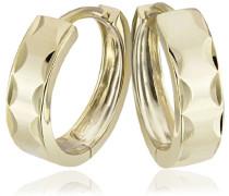 Damen-Creolen diamantiert 375 Gelbgold Ohrringe Schmuck