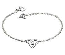 Armband Sterlingsilber, Motiv: Keltischer Dreiecksknoten, Länge 17,8–18,4cm