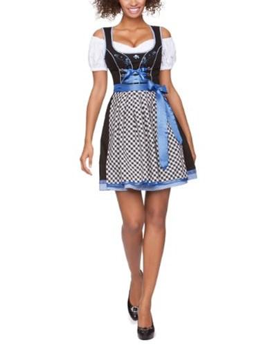 stockerpoint damen stockerpoint damen dirndl kleid gipsy mini einfarbig gr 42 blau azur. Black Bedroom Furniture Sets. Home Design Ideas