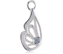 Heartbreaker Damen- Ohring Einhänger für Creolen 925 Silber Butterfly mit Topas LD MR 35