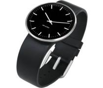 Rosendahl Unisex-Armbanduhr Analog Edelstahl schwarz 43437