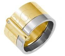 Damen-D21064DSZ56-Arabesque Damen-Ring Edelstahl-T 56