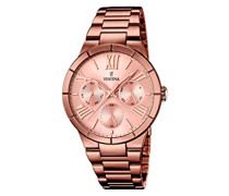 Damen-Armbanduhr Analog Quarz Edelstahl F16798/1