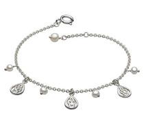 Sterling-Silber 925 Süßwasserperle Tropfenform keltisches Armband 17.8- 18,4 cm