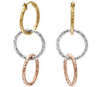 Damen-Ohrringe Gelb, Weiß und Rosé Gold 9 karat Diamantschliff