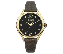 Damen-Armbanduhr Analog Quarz Schwarz M1217B