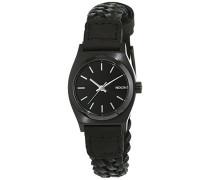 Nixon Damen-Armbanduhr Small Time Teller Leather Analog Quarz Leder A5092053-00