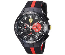 Ferrari Herren-Armbanduhr XL Analog Quarz Silikon 830023