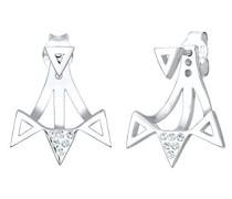Premium Ohrringe Dreieck Ear Jacket Swarovski Kristalle 925 Silber 0312290516