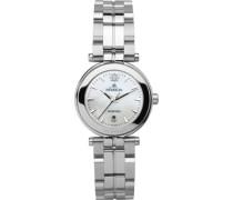 Damen-Armbanduhr Analog edelstahl silber 12856/B19