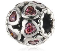 Damen-Bead 925 Sterling Silber Zirkonia rosa 791250CZS