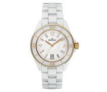 4001.1153 schweizer Uhr Unisex Armbanduhr Analog Keramik, weiß