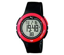Herren-Armbanduhr PU-Touch-black red Digital Quarz Kautschuk PU911211001
