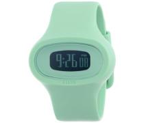 Alessi Unisex-Armbanduhr Digital Quarz Kunststoff grün AL25001
