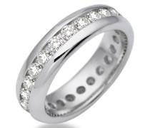 Damen-Ring Memoire 925 Sterling-Silber Zirkonia MSM089RO