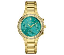 Caravelle New York Damen-Armbanduhr Chronograph Quarz Edelstahl 44L215