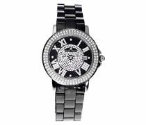 Damen-Armbanduhr Analog Quarz Premium Keramik Diamanten - STM15P2