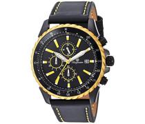 Armbanduhr für Herren mit Analog-Anzeige, Chronograph und Lederarmband - Wasserdichte Herrenarmbanduhr mit zeitlosem, schickem Design - klassische Uhr für Männer - BMT02-692G Cape Coral