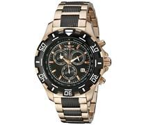 Invicta Herren-Armbanduhr XL Chronograph Quarz Edelstahl beschichtet 1221