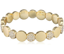 Damen-Armband Vergoldet mattiert Kristall transP Rundschliff 17 cm - 601632062