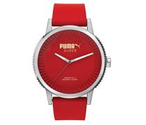 Unisex-Armbanduhr 10410 SUEDE - RED Analog Quarz Silikon PU104101004