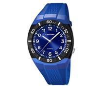 Calypso Herren Armbanduhr mit Blau Zifferblatt Analog Display und Blau Kunststoff Gurt k5238/2