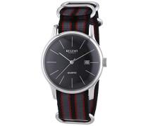 Regent Herren-Armbanduhr XL Analog Quarz Textil 11110680