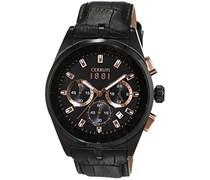 Cerruti 1881 Herren-Armbanduhr VELIERO Analog Quarz Leder CRA089D222G