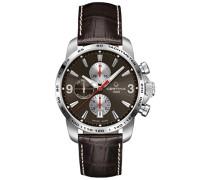 Herren-Armbanduhr XL Chronograph Automatik Leder C001.427.16.297.00