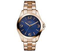 s.Oliver Damen-Armbanduhr Analog Quarz Edelstahl SO-3056-MQ