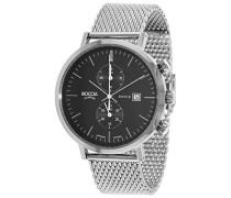 Herren-Armbanduhr Chronograph Quarz Edelstahl 3752-02