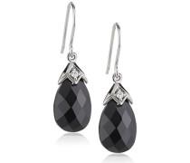 - Damenohrhaken aus 925er Sterling Silber weißen und schwarzen Zirkonias 273230051L-1