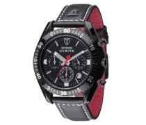 DETOMASO Herren-Armbanduhr Genova Edelstahl IP Chronograph Quarz SL1592C-BK-B