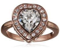 Damen-Ring Herz Messing Glas blau Gr. 56 (17.8) - UBR28510-56