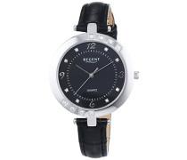 Regent Damen-Armbanduhr XS Analog Quarz Leder 12111133