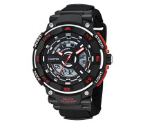 Calypso Herren Armbanduhr mit LCD-Zifferblatt Analog Digital Display und schwarz Kunststoff Gurt k5673/6