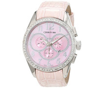 Cerruti Damen-Armbanduhr Analog Quarz Leder CT069521X04