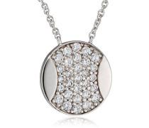 Damen-Halsband 925 Sterling Silber rhodiniert Glas Zirkonia Nouvel Âge weiß S.PCNL90445A420