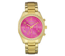 Caravelle New York Damen-Armbanduhr PINK and GOLD Chronograph Quarz Edelstahl beschichtet 44L168
