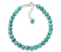 Damen-Armband 925 Sterling-Silber blau 19cm 02000829_19